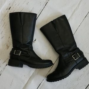 UGG Langton Mid Calf Buckle Leather Boots
